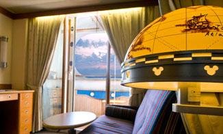 Camarote Deluxe vista al mar con terraza Navigator